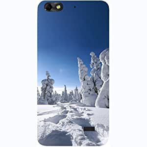 Casotec Winter In Finnland Design Hard Back Case Cover for Huawei Honor 4C