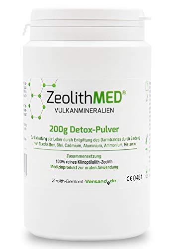 Zeolith Med Detox-Pulver 200 g, CE zertifiziertes Medizinprodukt