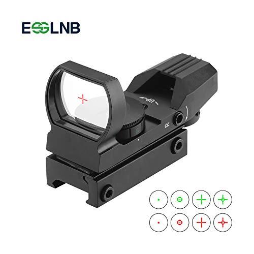 ESSLNB Red Dot Visier Airsoft Scope Leuchtpunktvisier Rotpunktvisier für 22mm/20mm Schiene mit 4 Absehen und Schutzkappe für Jagd Softair Pistole