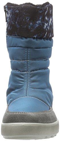 Ricosta Tanja, Bottes de neige de hauteur moyenne, doublure chaude fille Bleu - Blau (petrol 147)