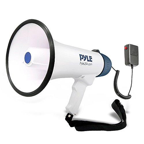 Pyle-Pro pmp45r Professionelle Dynamische Megafon mit Aufnahmefunktion/Abnehmbare Mikrofon & wiederaufladbare Batterien