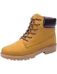 Herren Damen Chukka Stiefel Schneestiefel Leder Schnüren Sich Oben Arbeit Desert  Boots Stiefeletten Outdoor Schuhe Schwarz dbb62fcc29