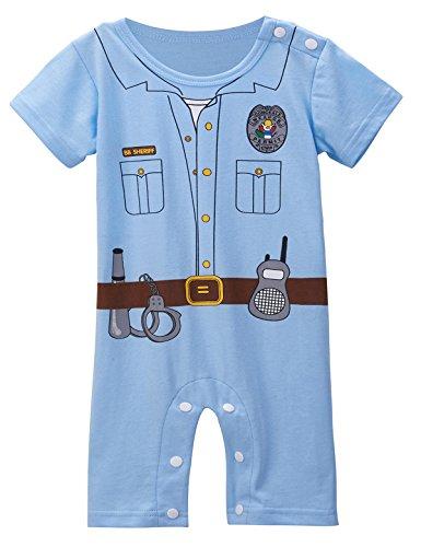 Mombebe Bambino Ragazzi Polizia Costume pagliaccetto (Polizia 776946639bc