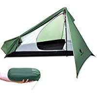 GEERTOP Backpacking Tent - Ultralight 1 Person 3-Season with Carry Bag, Portable & Lightweight Easy Setup Tent for Camping, Hiking, Traveling