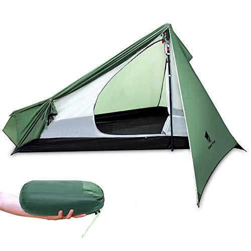 GEERTOP Campingzelt Ultraleichte 1 Person 3-Jahreszeit Rucksackreisen Zelt Wasserdicht Tragbar & Leichtes für Camping Wandern Klettern,Trekking