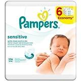 Pampers - lingettes Sensitive 6 x 56pcs