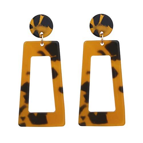 LILIHOT Ohrringe Damen Persönlichkeit Kreative Acetat Platte Geometrie Lange Quadrat Schmuck Mode Einfache Stilvolle Attraktive Tropfen Ohrringe Schöne Schmuck Zubehör Geschenk - Breite Trim V-neck Top