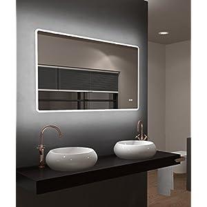 Badspiegel Mit Beleuchtung Und Uhr Gunstig Online Kaufen Dein
