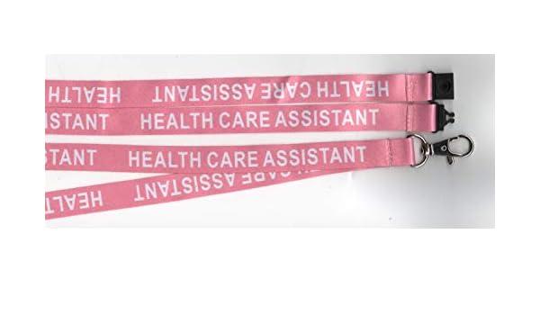 5 blu assistente sanitario stampato infermieristica ospedale HCA Safety Neck Breakaway Lanyards Free UK P/&P ideale per badge identificativi