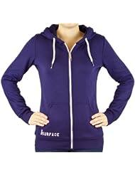 Urban Surface, Hoodie avec doublure en polaire dames hoodies sweat haut chandail capuche Mesdames Femme