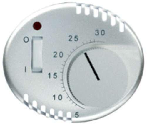 Niessen tacto - Tapa termostato con interruptor 8140.1 tacto cava