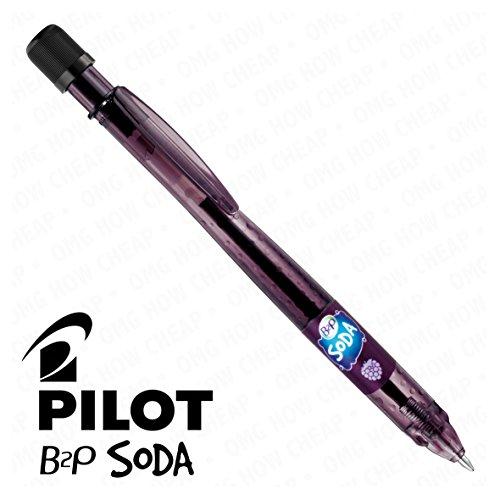Pilot Soda-Penna a sfera a scatto singolo, ribes nero, [94% di plastica riciclata]