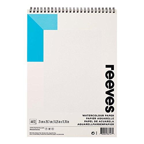 Reeves - Papel de acuarela A4, anillado - Blanco