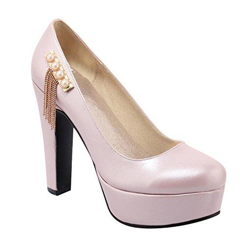 Mee Shoes Damen Plateau high heels runde Pumps Pink