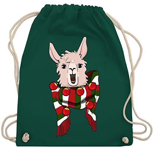 Weihnachten & Silvester - Weihnachten Lama - Unisize - Dunkelgrün - WM110 - Turnbeutel & Gym Bag