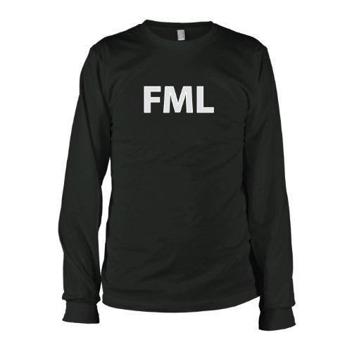 TEXLAB - Fuck My Life - Langarm T-Shirt Schwarz
