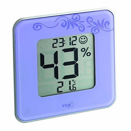 TFA Dostmann digitales Thermo-Hygrometer Style 30.5021.11, lila mit Ornament - 2