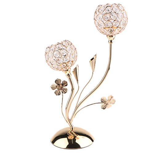 Homyl Kristall Kerzenleuchter Kerzenhalter Romantische Tischdeko Für  Hochzeit/Wohnzimmer/Candle Light Dinner