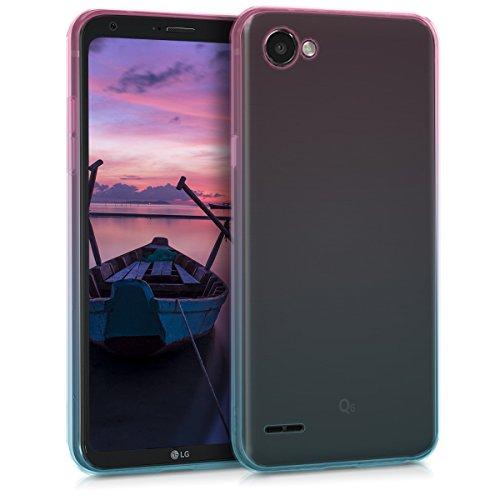 kwmobile LG Q6 / Q6+ Hülle - Handyhülle für LG Q6 / Q6+ - Handy Case in Pink Blau Transparent