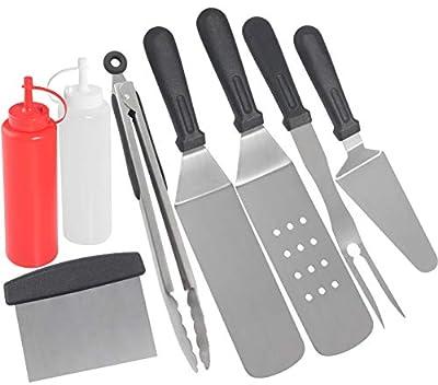 grilljoy Grillpfannenwender-Set und 12-teiliges Grillwerkzeug in Kühltasche