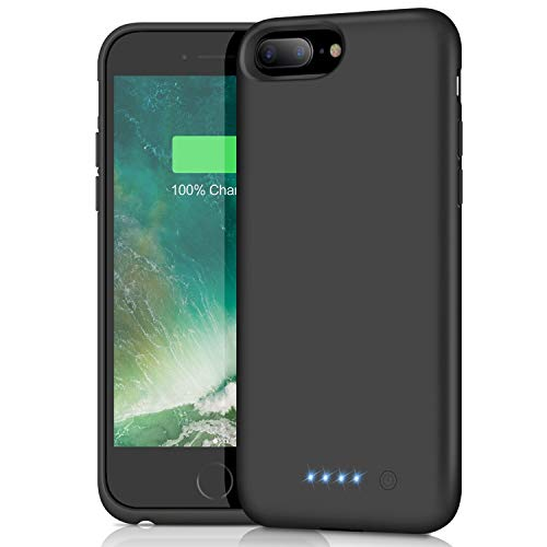 Feob Cover Batteria per iPhone 8plus/6S Plus/ 6plus/ 7plus, 8500mAh Custodia Ricaricabile Cover Caricabatterie Portatile Batteria Esterna Battery Case per Apple iPhone Plus[5,5'']-Backup Charger Case