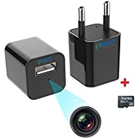 IFITech - 1080p HD Hidden Camera, Plug USB Charger with SD Card, Supports 2 Mode Recording, Nanny cam |Home, Kids, Baby…