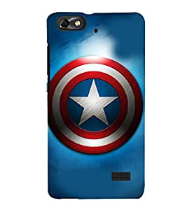 printtech Superhero Shield Star Back Case Cover for Huawei Honor 4C