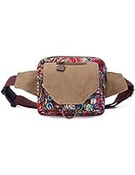 Win8Fong Fashion de la mujer retro Bohemian estilo cintura Pack bolso de cintura Impreso Deportes bolsa