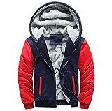 Manalian Herren Kurz Mäntel Kapuzenpullover Winter Warm Vlies Reißverschluss Sweatshirt Jacke Outwear Mantel für Männer