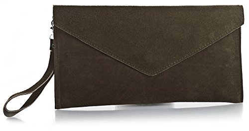 Big Handbag Shop , Damen Clutch One, Blau - Blu (Blu navy) - Größe: One Size Marrone (Caffè)