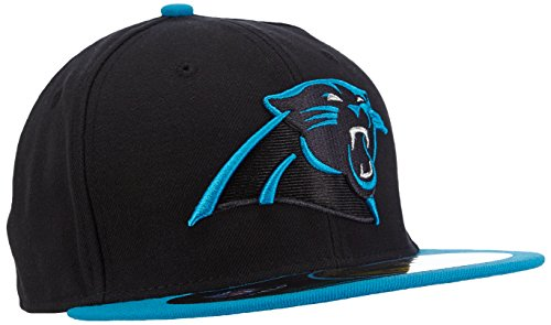 New Era Erwachsene Baseball Cap Mütze NFL On Field Carolina Panthers 59 Fifty Fitted, Schwarz (Team), 7 1/2 (Nfl Beanie-mütze)