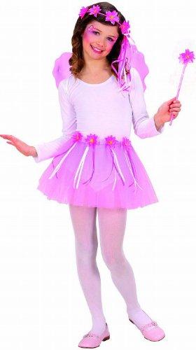 erkostümset Blumenfee, Tütü, Flügel, Kopfschmuck und Zauberstab (Flower Fairy Kostüm)