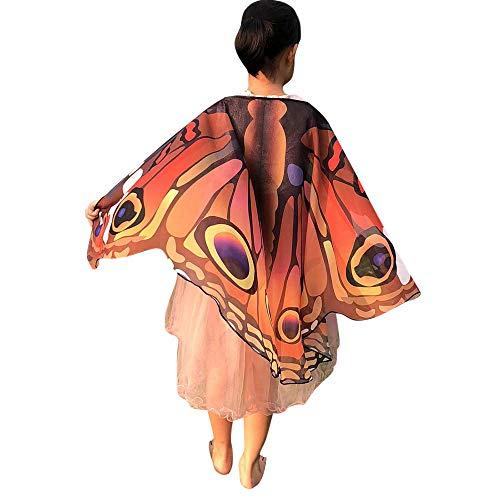 Marlene Schmetterling kostüm, Kinder Schmetterling Flügel Schal Schals Poncho Kostüm Zubehör für Show/Daily/Party