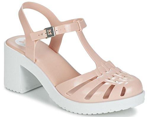 Zaxy Dream Heel Nude White Womens Block Heels Sandals-5