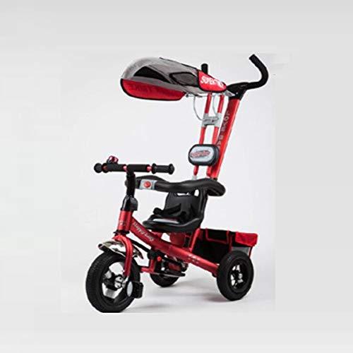 ZhiGe Kinderwagen Sport Luftreifen, Kinderwagen mit DREI Rädern, Kinderwagen, Sonnenschirm, Kinderwagen
