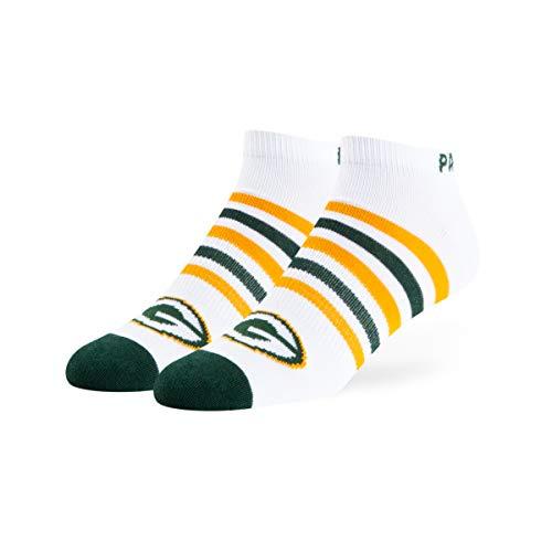 'NFL Green Bay Packers OTS Venom Low Cut Socken, Weiß, Größe L Packer Boots