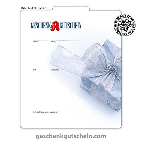 """25 Stk. Premium Geschenkgutscheine Gutscheine zum Falten""""Multicolor"""" für deutsche Apotheken AP210, LIEFERZEIT 2 bis 4 Werktage!"""