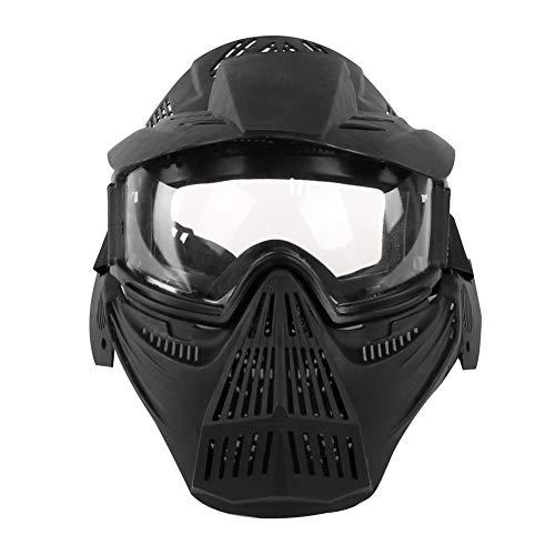 sk für CS Airsoft War Spiel Army Masks mit Objektiv Tactical Breathable Full Face Safety Reitmaske-BK ()