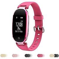 HJMTRY Dame Sports Armband Fitness Tracker Smartwatch Wasserdicht Bluetooth Wireless 0,96 Zoll für Android 4.3 / IOS 8.0 und höher