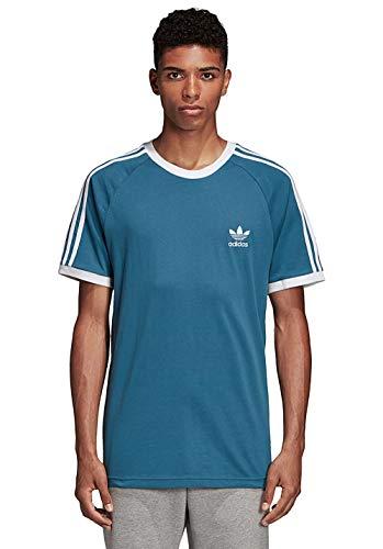 Adidas 3-stripes, t-shirt uomo, blanch blue, s