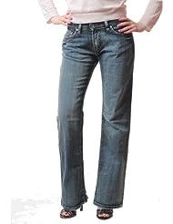 Chef De Ville - CHEFDEVILLE jeans coupe droite big scrap Taille - 36, Couleur -