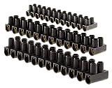 Lot 10 barrettes 4x 4 mm²+ 3x 6mm² + 3x 10 mm² noires
