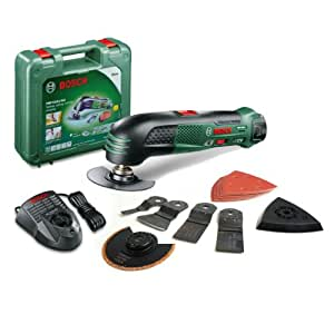 Bosch 0603101971 PMF 10.8V Lithium-Ion Cordless Oscillating Multi-Tool with Charger/ 13 Accessories (Old Version)