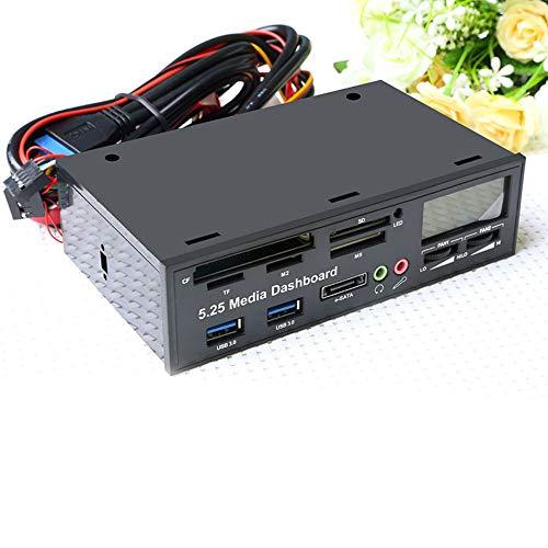 CplaplI Computerzubehör, USB 3.0 High Speed Media Armaturenbrett Frontpanel PC TF SD M2 MS Multi Card Reader (Reader Interne Blu-ray, Festplatte)