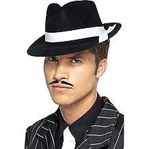b07b60fd77435 EL CARNAVAL Sombrero Negro de Gangster Adulto Fieltro