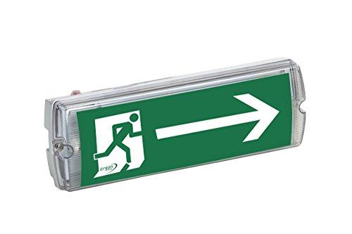LED Rettungszeichenleuchte, Notleuchte, Notausgangsleuchte, Fluchtwegleuchte 2,2W LED, 3 Std. Dauer-/Bereitschaftsschaltung, Schutzart IP 40