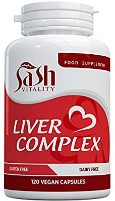 Natural Liver Cleanse and Detox Capsules - 13 Powerful Ingredients Inc Artichoke, Dandelion, Turmeric, Ginger, Choline & More - Liver Support & Care Tablets - 120 Vegan Capsules – 2 Month Supply by SASH Vitality LTD