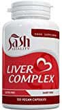 Natural Liver Cleanse and Detox Capsules - 13 Powerful Ingredients Inc Artichoke, Dandelion