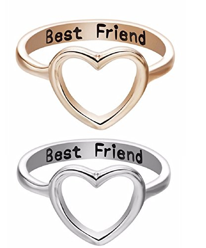 ILOVEDIY 2Stück Ring Silber Damen Love Heart Ring mit gravur Geschenk