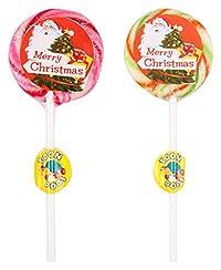 TOONPOPS LOLLIPOPS TPMC25R Merry Christmas Lollipops, 300 Grams (Pack of 12)